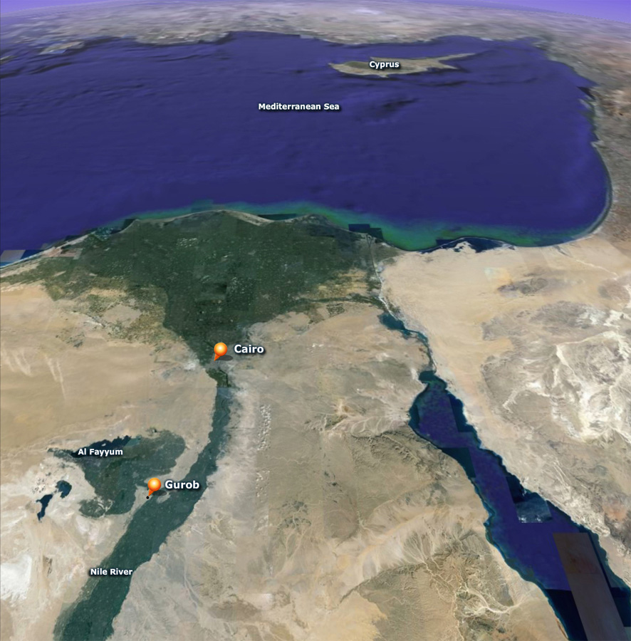 Gurob egypt archaeological recreations and simulations the slant satellite view of gurob in its eastern mediterranean context courtesy google earth gumiabroncs Images